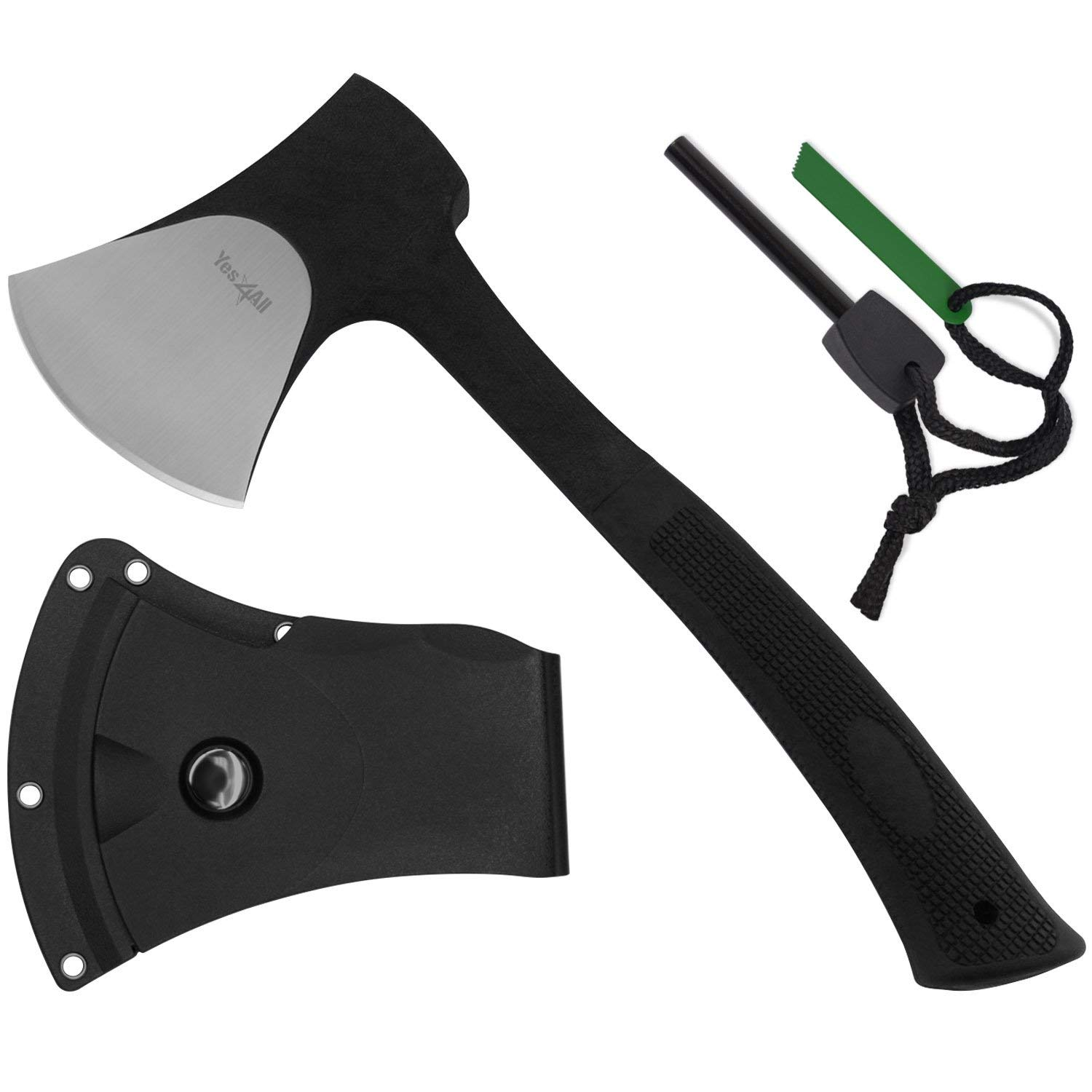 Yes4All Outdoor Camping Axe with Sheath + Fire Starter